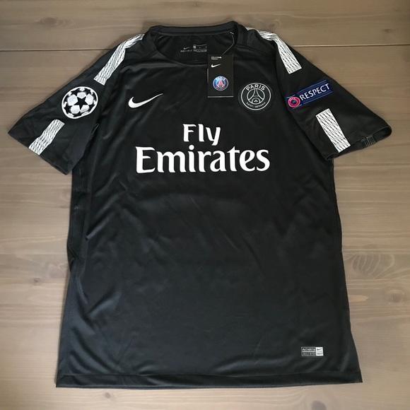 premium selection 0e922 546d3 PSG black Neymar Jr. #10 soccer jersey Nike NWT